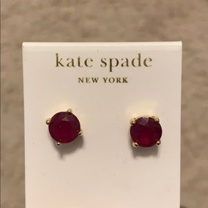 Kate Spade Moody Plumb 14k Gold Fill Earrings